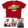 The Big Bang Theory Seasons 1-3 + Bazinga T-Shirt Gift Set