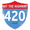 Weeds Highway 420 Wall Cling