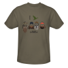 Duck Dynasty I Duck Group Silhouette T-Shirt - Safari Green