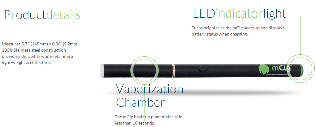 Mcig electronic herbal pipe