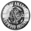 Sons of Anarchy Redwood Original Glass Clock